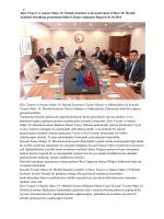 Rize Ticaret ve sanayi Odası 19. Meslek komitesi ve Kocaeli Sanayi