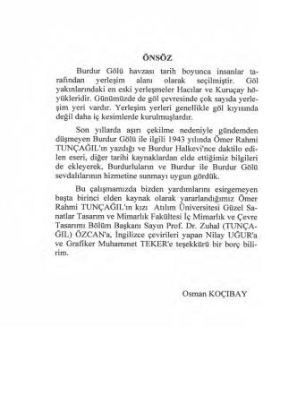 Burdur Gölü - 1943 (Ömer Rahmi TUNÇAĞIL)