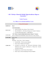 Toplantı Programı - İstanbul (PDF)