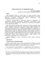 RZAYEVA, Roida-TÜRK TOPLUMU VE MODERNLEŞME
