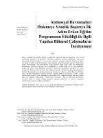 Türkçe Özet - International Journal of Early Childhood Special