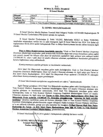 07.03.2014 Meclis Kararı 76