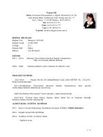 1 / 2 Ümran ER Adres: Germiyan Danışmanlık ve Eğitim Hizmetleri