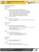 TÜBİTAK-1003 İlgili Çağrılar ve Etkinlik Programı