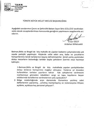 CHF - Türkiye Büyük Millet Meclisi