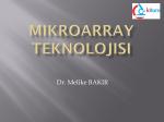 Mikroarray teknolojisi