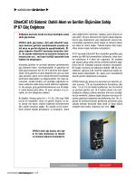 Dahili Akım ve Gerilim Ölçümüne Sahip IP 67 Güç Dağıtıcısı