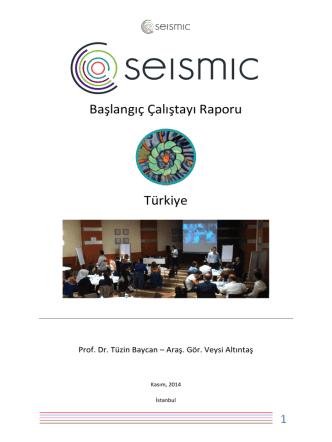 Başlangıç Çalıştayı Raporu-Türkçe