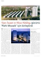 Tepe İnşaat ve Mesa Holding gücünü Park Mozaik için birleştirdi