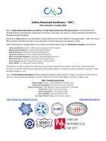 Kafkas Matematik Konferansı - CMC I