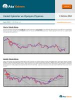 4 Temmuz 2014 Vadeli İşlemler ve Opsiyon Piyasası