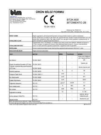 BT2K-600 Bitümento 2B