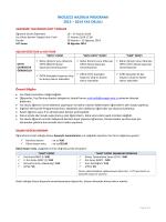 2013 - 2014 Yaz Okulu Ders Kayıt Bilgileri
