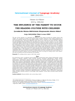 Çocuklarda Okuma Kültürünün Oluşmasında Ailenin Etkisi
