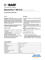 MasterRoc® MS 610 (Eski adı MEYCO® MS 610