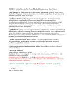 2014-2015 Eğitim Öğretim Yılı Nesne Yönelimli Programlama Dersi