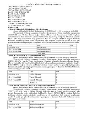01.04.2014 tarih 387 nolu Toplu Yönetim Kurulu Kararı