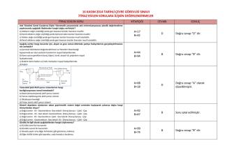 16 kasım 2014 tarihli çevre görevlisi sınavı itiraz edilen sorulara