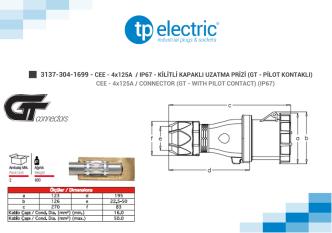 3137-304-1699 - CEE - 4x125A / IP67