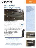 QAM (DVB-C) Uydu Yayın Merkezi HDC