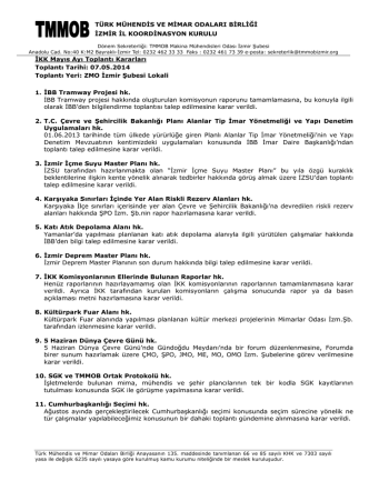 07 Mayıs 2014 Toplantı Kararları 2014.05