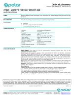 ürün bilgi formu 47050 markyd topcoat speedy-050