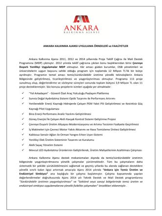 Ankara Kalkınma Ajansı - Sürdürülebilir Üretim Sempozyumu