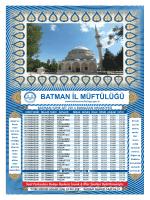 BATMAN MÜFTÜLÜĞÜ 2000 ADET İMSAKİYE.cdr