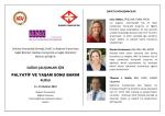 Sağlık Çalışanları İçin Palyatif Bakım ve Yaşam Sunu Bakım Kursu