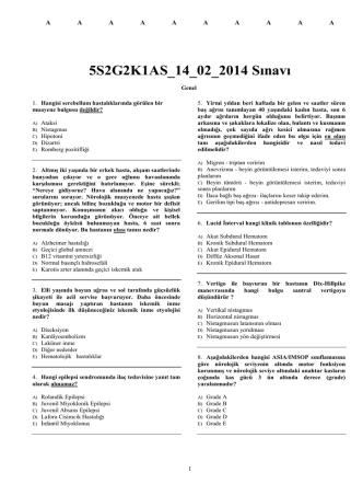 5S2G2K1AS_14_02_2014 Sınavı