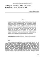 """Güneş Dil Teorisi: """"Batı"""" ve """"Türk"""" Arasındaki Sınırı İdare Etmek"""