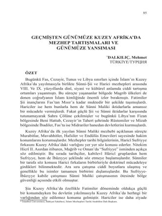DALKILIÇ, Mehmet-GEÇMİŞTEN GÜNÜMÜZE KUZEY
