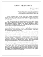 Yetişkinlerin Din Eğitimi / Prof. Dr. Suat CEBECİ
