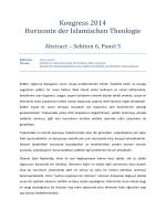 Kongress 2014 Horizonte der Islamischen Theologie