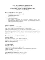 29 Mayıs Üniversitesi - Uluslararası İlahiyat Programı