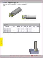 TEKNOMILL Indexable Endmill Line APKT1604 KES‹C‹ UÇLAR ‹Ç