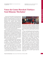 PDF - Vasco da Gama Hareketi Türkiye: Yeni Döneme Merhaba!