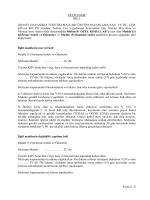 Sayfa 1 / 2 ZEYİLNAME NO: 1 GRANİT DAYANIKLI TÜKETİM
