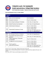 Türkiye Acil Tıp Derneği İleri Havayolu Kursu