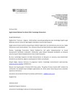 29 Ocak 2014 İngiliz Hukuki Method Yaz Okulu