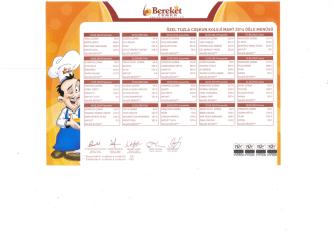 2014-Mart Ayı Yemek Listesi