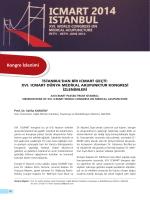 XVI. ICMART Dünya Medikal Akupunktur Kongresi İzlenimleri