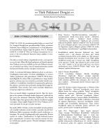 BASKIDA Mektup - Türk Psikiyatri Dergisi