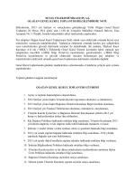 olağan genel kurul toplantısı bilgilendirme notu 18.nisan.2014