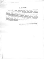 """iLAN METNİ Ordu İli, Korğan İlçesi""""nde DSİ VII. Bölğe Müdürlüğü"""