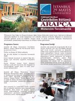 Tanıtım Broşürü - İstanbul 29 Mayıs Üniversitesi
