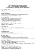 2013-2014 Bahar Yarıyılı için Bitirme Tasarım Projesi Konuları