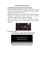 G4 FORMATLAMA KILAVUZU 1. USB MEMORY DEN YÜKLEYİCİYİ