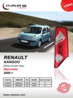 Renault Kango Dikey Açılan Stop Lamba 2008