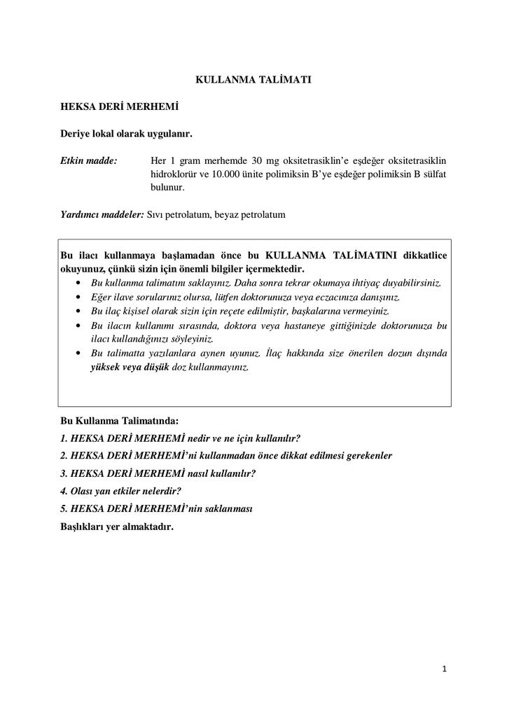 Merhem Doktor Anne - kullanım talimatları